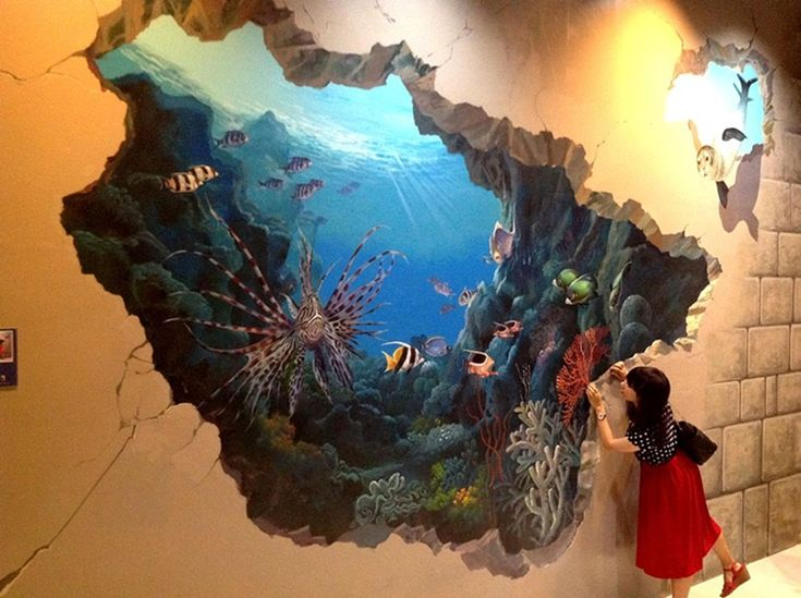 3d painted walls mr shin isgraduated from hongik for 3d mural wall art
