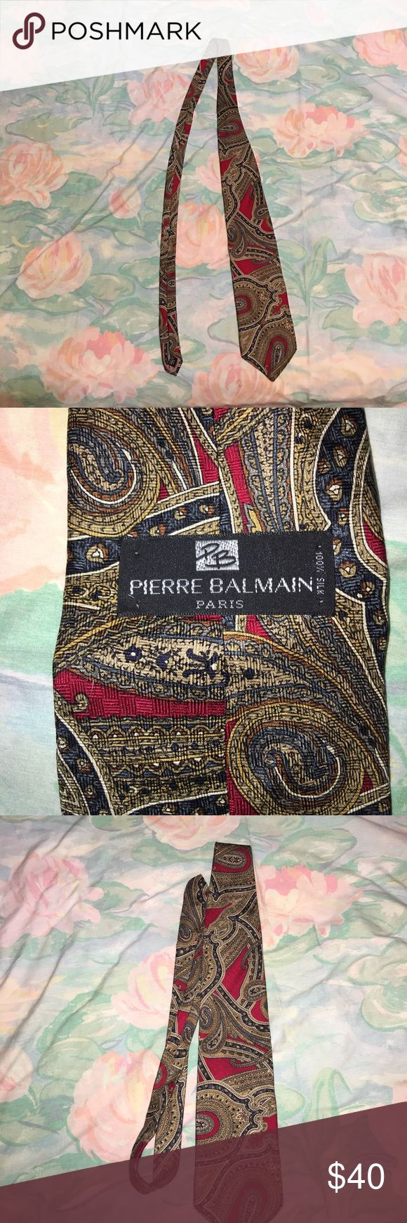 Pierre Balmain Tie Condition:8.7/10. Contact me for more information or pictures! Pierre Balmain Accessories Ties