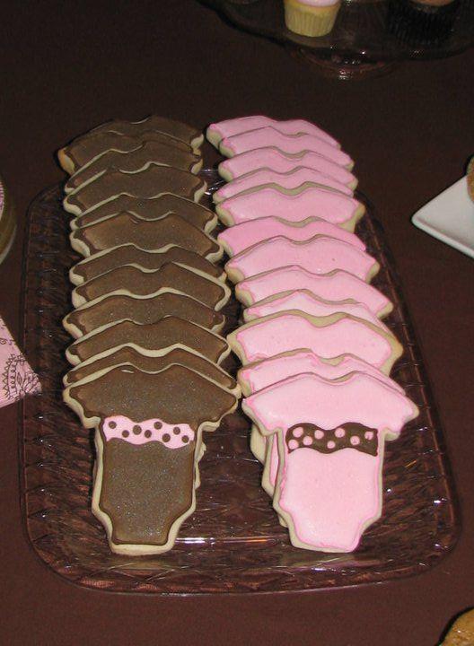 Onesie Cookies: Shower Ideas, Onesie Sugar, Themed Baby Showers, Theme Baby Shower, Sugar Cookies, Spices Baby, Onesie Cookies, Baby Shower Brown Pink, Sugar And Spices
