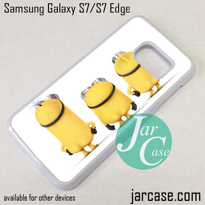 Three Minions Phone Case for Samsung Galaxy S7 & S7 Edge