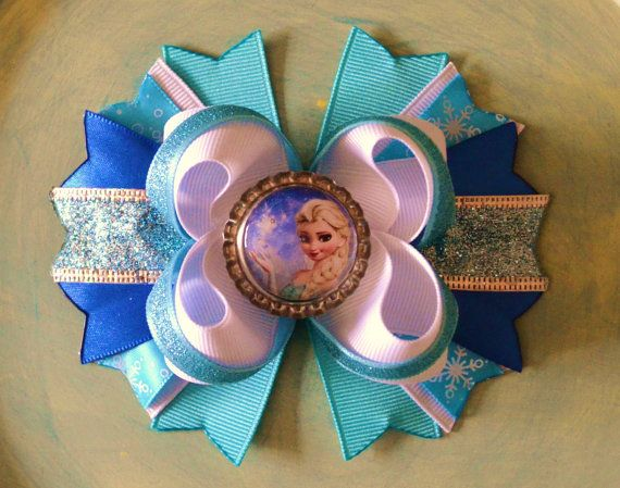 Disney+Frozen+Inspired+Boutique+Hair+Bow+by+buddhabelly10+on+Etsy,+$6.50