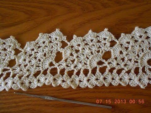Crochet Abanicos Super Grandes - YouTube