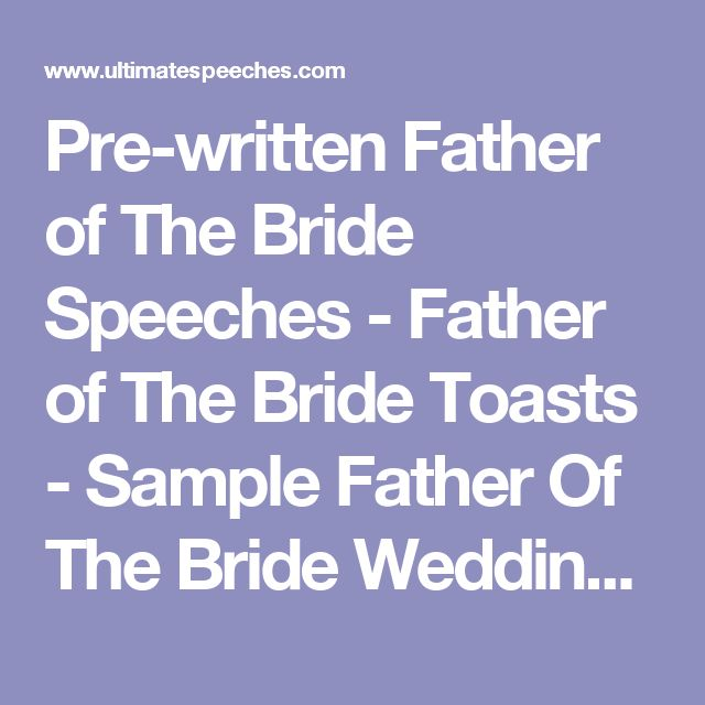 The 25+ Best Father Of Bride Speech Ideas On Pinterest