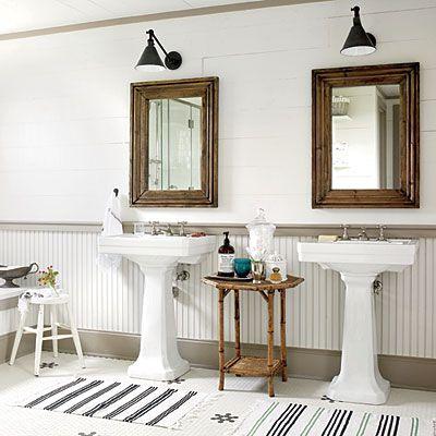Bathroom Pedestal Sink Ideas 112 best farmhouse bathroom ideas images on pinterest | bathroom