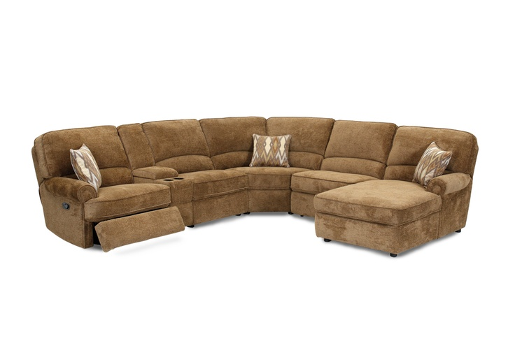 6 Piece Coffee Upholstered Powered Sectional Armless
