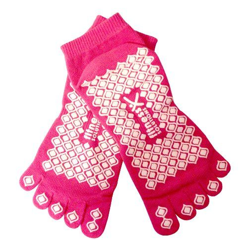 Fitness Solutions Yoga Socks, Pink -- Read more details by clicking on the image.