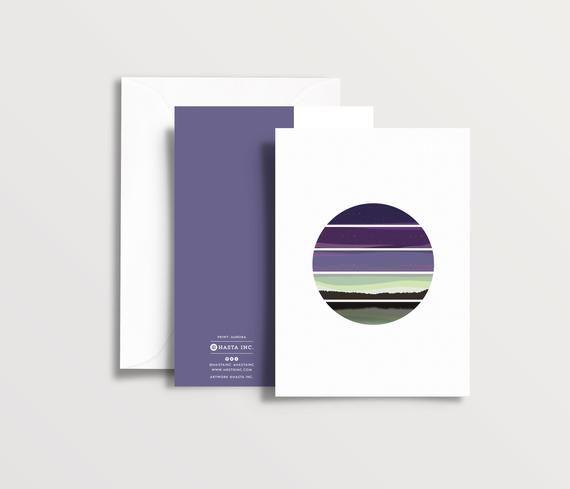 Aurora Greeting Card Print Northern Lights Scotland Aurora
