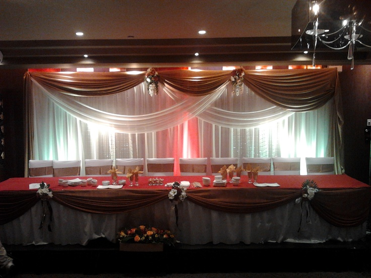 Wedding Reception Head Table And Backdrop Http