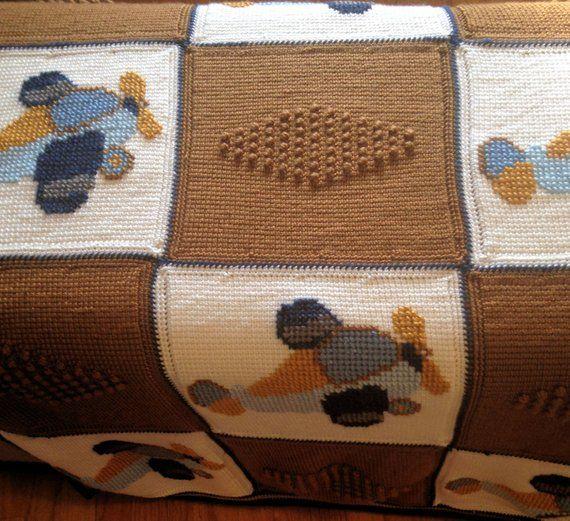 3b477116b5b6 Crochet Baby Blanket, Baby Blanket, Crochet Airplane Baby Blanket, Crochet  Blanket, Crochet Airplane