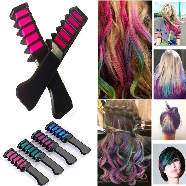 Fashion 2016 New Permanent Hair Color Chalk Powder With Comb Temporary Hair Mascara Multicolor Dye Hair Styling Tool