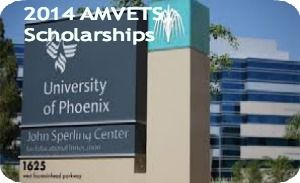 2014 AMVETS Scholarships for Undergraduates or Masters Students at University of Phoenix in USA , and applications are submitted till September 3, 2014. University of Phoenix is providing AMVETS Scholarships for undergraduates or master's degree program. Twenty (20) 100% full-tuition scholarships will be awarded - See more at: http://www.scholarshipsbar.com/2014-amvets-scholarships.html#sthash.NoDpPYXU.dpuf