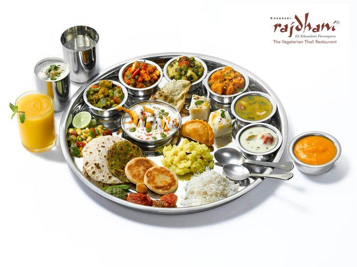 Rajasthani & Gujarati taste in one thali.