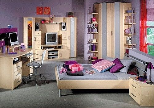 Bedroom interior decorating ideas for teenage girl bedroom - Tapisserie pour chambre ado fille ...