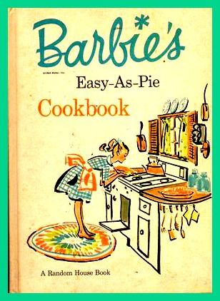Barbie's Vintage Cookbook Via http://www.cookinggamesonline.us/games/barbie-cooking-games/ #Barbie #Cooking #Games
