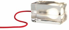 Design House Block Lamp Red Cord