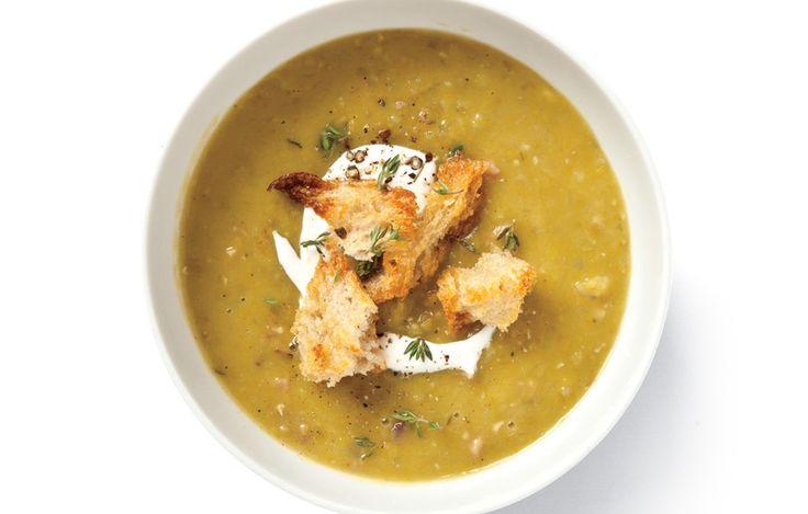 Split Pea Soup - Bon Appétit, Dec. 2013 issue.  Save the bone from Christmas ham!