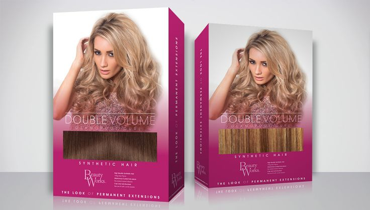 #Packaging for Beauty Works #Hair Extensions from www.massappealdesigns.com #branding #beauty