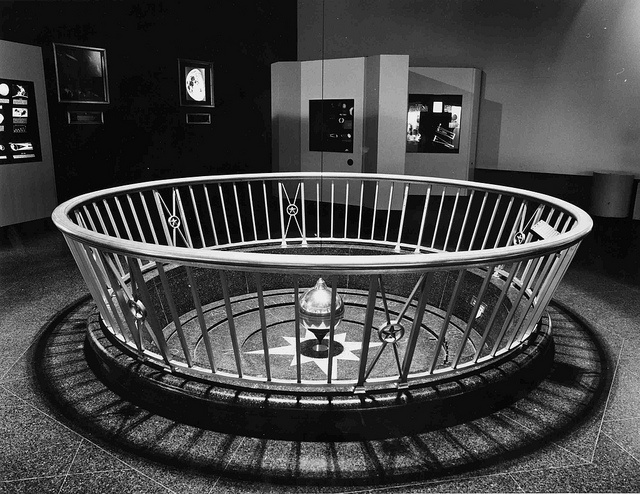 The Foucault Pendulum, one of the most popular displays in the original Planetarium lobby…and one of the most difficult to explain properly.