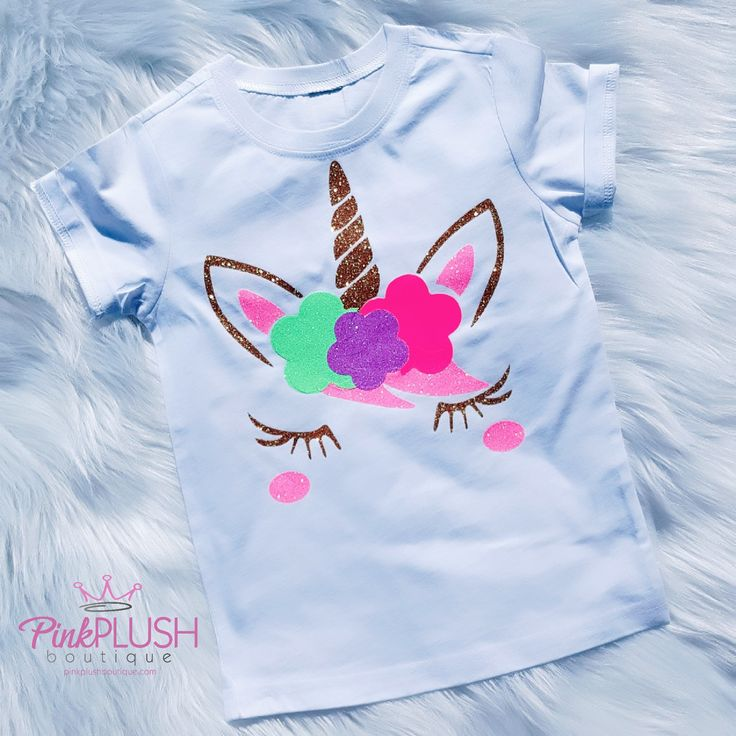 """""""Unicorn Rainbows"""" Personalized Tshirt"""