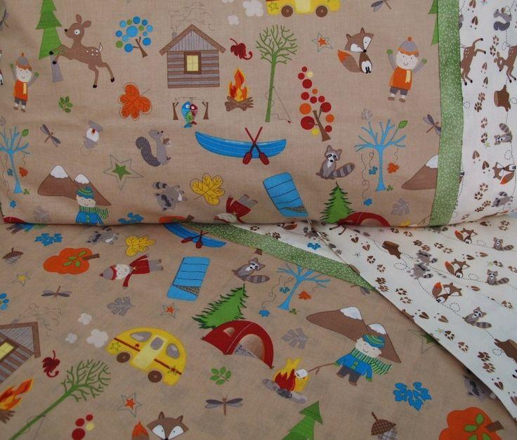 Forest Animals Nursery Toddler Bedding Camping Crib Sheet