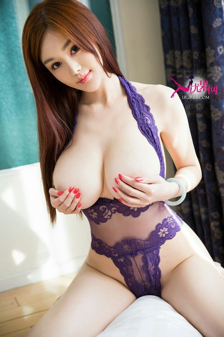 Japanese with big tits posing her natural b