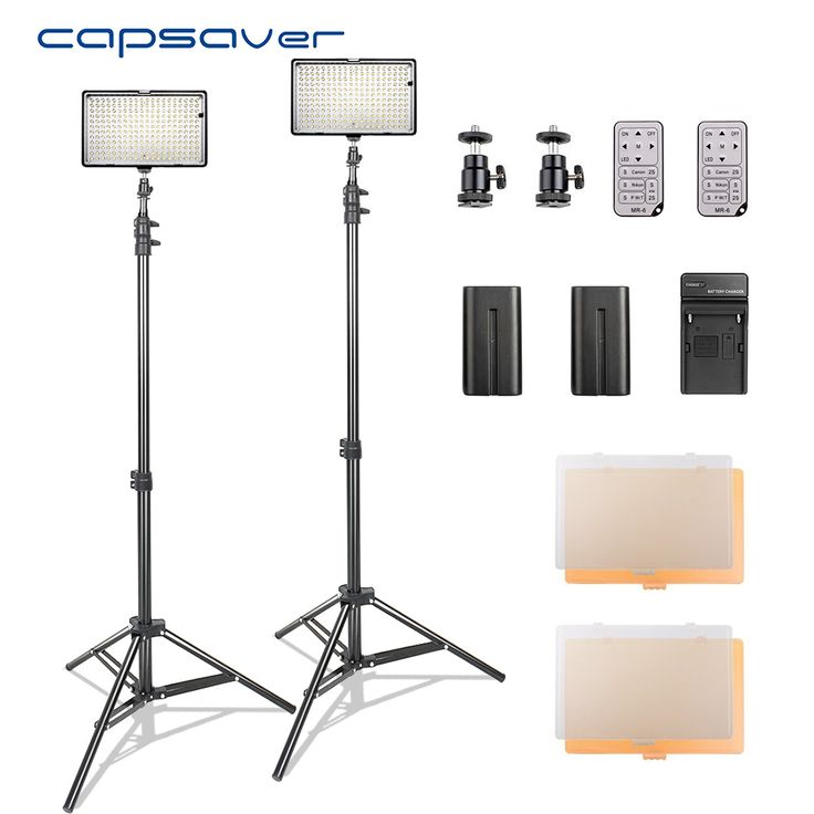 Find More Photographic Lighting Information about capsaver LED Video Light Photography Lighting Kit with Stand Remote Control 3200K 5600K CRI93 240 LEDs Camera Photo Studio Lamp,High Quality Photographic Lighting from capsaver Official Store on Aliexpress.com