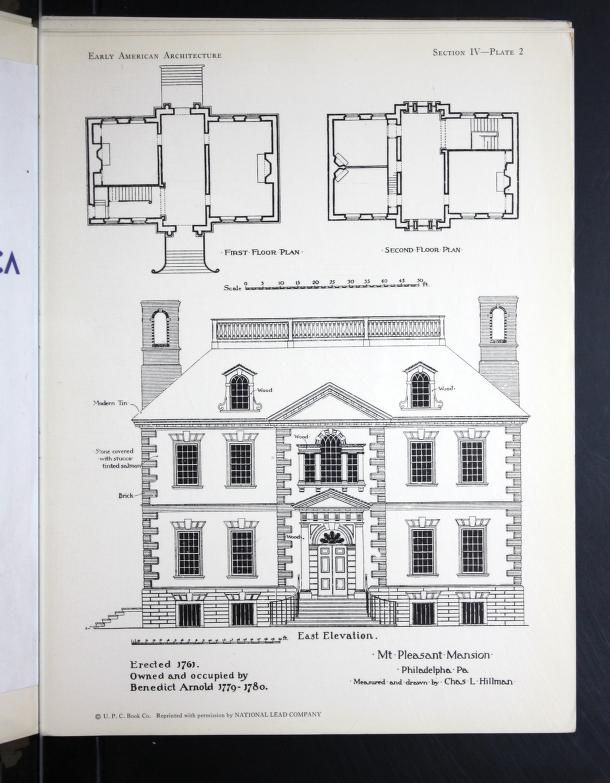 Early American Architecture Selected Sketches And Measured Drawings Showing Colonial And Georgian Desi American Architecture Architecture Vintage House Plans