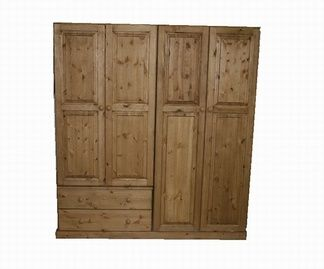 Beautiful hand made pine wardrobe with drawers.