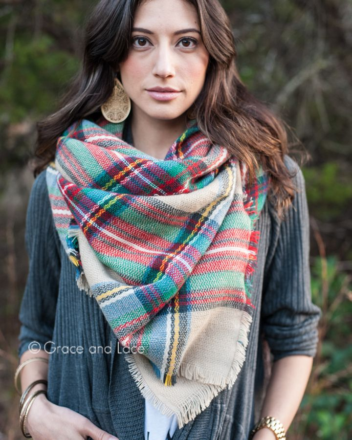 Grace and Lace - Plaid Blanket Scarf, $32.00 (http://www.graceandlace.com/all/plaid-blanket-scarf/)