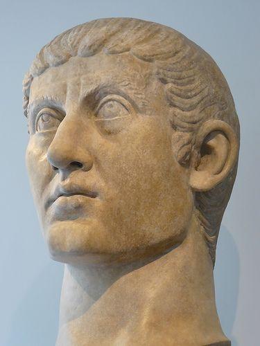 Portrait head of the Roman Emperor Constantine I 325 370 AD