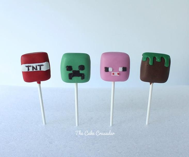 Minecraft Cake Pops - The Cake Crusader, Custom cakes in Western MA