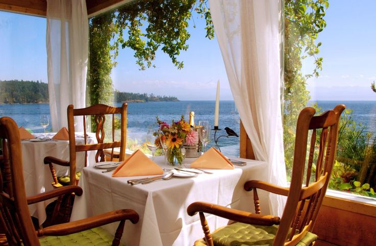 Seaside dining at the Sooke Harbour House, just one of many options in the area!