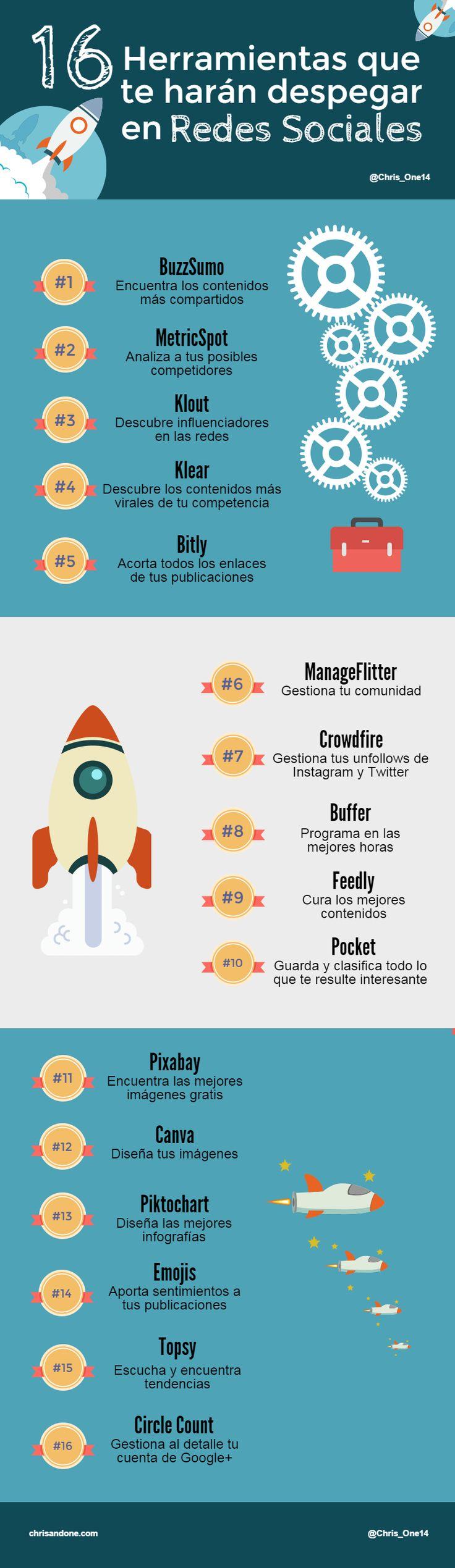 16 herramientas para despegar en Redes Sociales. via @jestepar #socialmedia