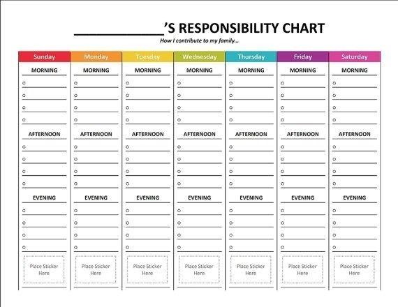Personalized Printable Kid 039 S Chore Chart Kids Pinterest Kids In Free Printable Customiza Responsibility Chart Chore Chart Kids Printable Chore Chart