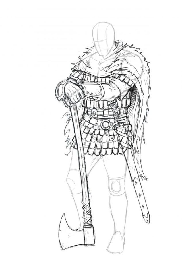 How To Draw A Viking Easy To Follow Step By Step Tutorial With