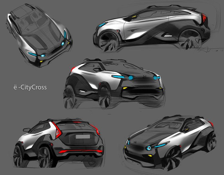 Crossback EV sketches&prototype 2014 on Behance