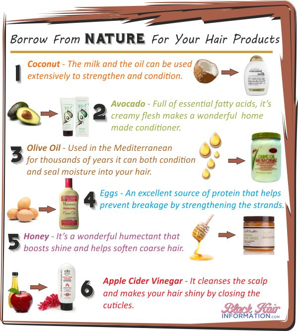 Borrow from nature for your hair products