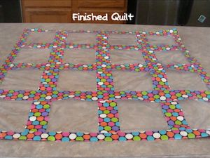 DYI Duct Tape Baggie Quilt - used to display work