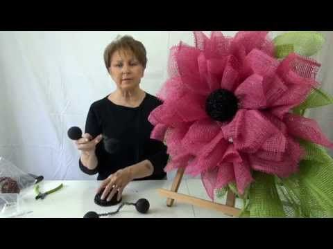 Fuchsia Deco Paper Mesh Flower Video Tutorial - Trendy Tree Blog