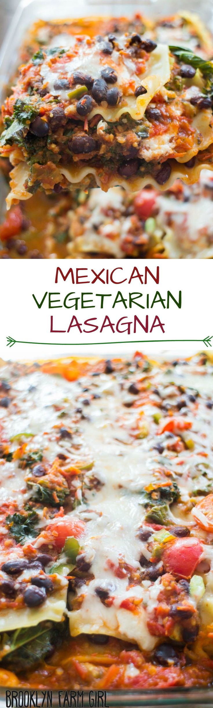 Mexican Vegetarian Lasagna recipe that is filled with veggies, ricotta ...