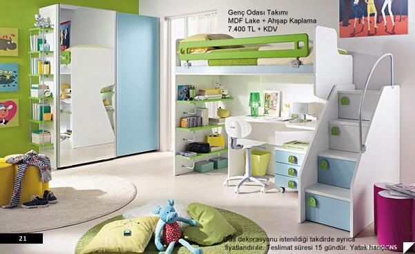 Kişiye Özel Mobilya Dekorasyon: Modern Genc Odasi