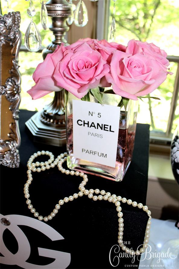 Chanel Themed Candy And Dessert Buffet Bridal Shower In New York
