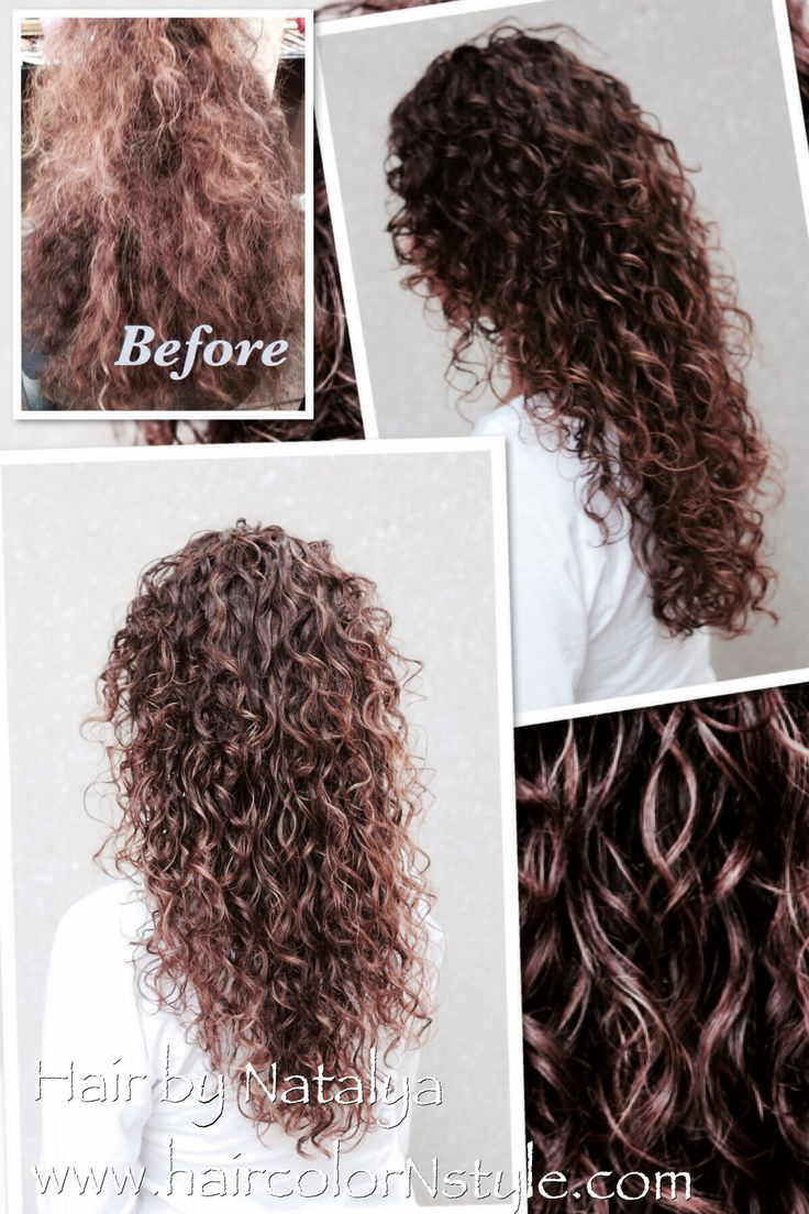 Before And After Naturally Curly Hair Styled With Gel