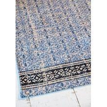 IB Laursen Vloerkleed Katoen Print - Blauw/Donkerblauw