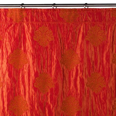 """MaduraUS Duomo Shower Curtain Color: Bright Red, Size: 112.2"""" H x 52.36"""" W"""