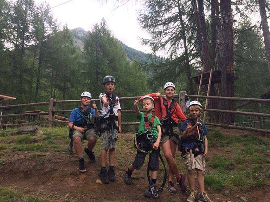 Klettern im Klettergarten