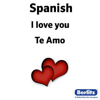 I love you in Spanish | Words | Pinterest