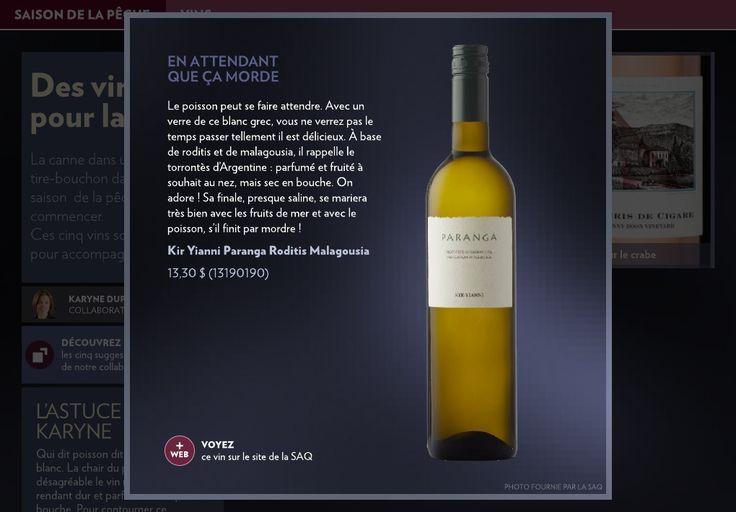 Des vins pour la pêche - La Presse+