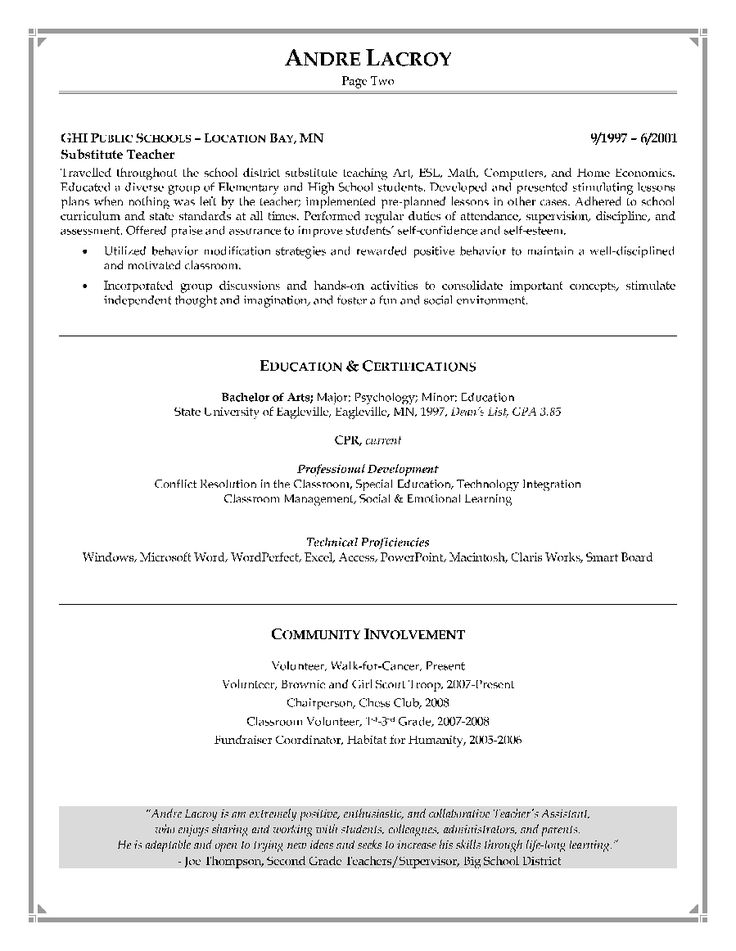 sample resume cover letter for special education teacher - Teacher Resume And Cover Letter