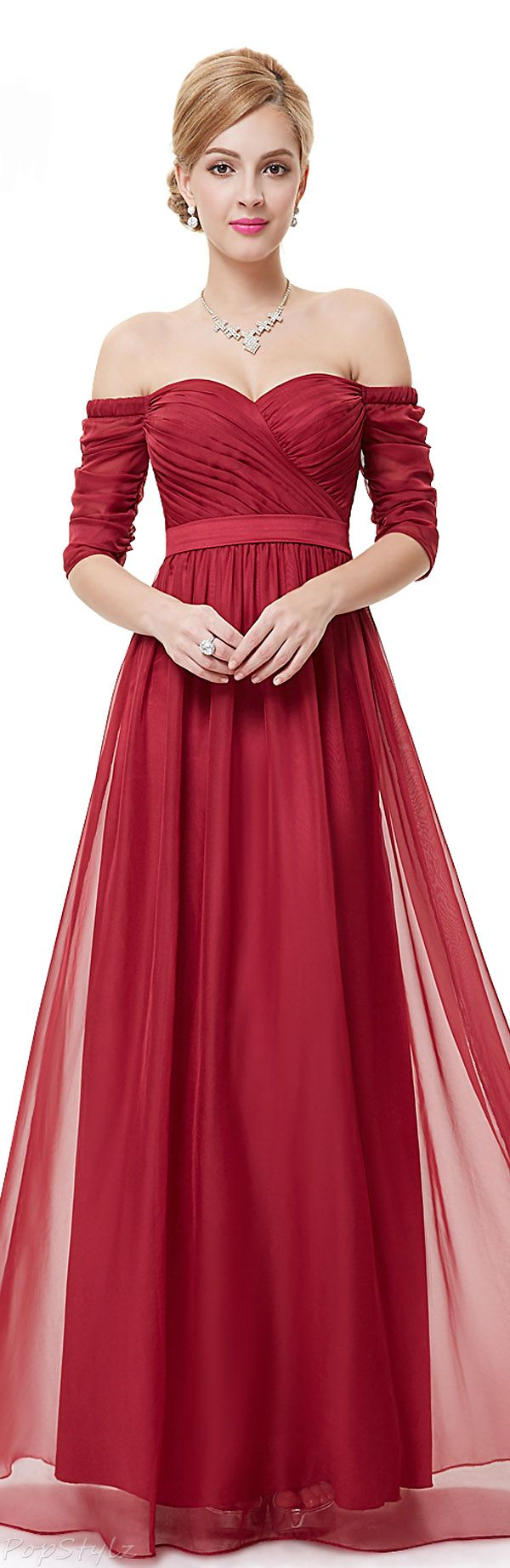 Ever Pretty Off Shoulder Sweetheart Evening Gown